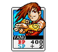 Yang - Street Fighter Photographic Print