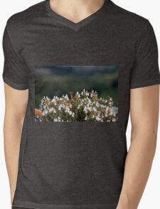 White Blossoms Mens V-Neck T-Shirt