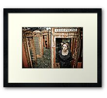 Holding On for Your Call Framed Print