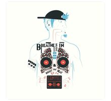 This is what your insides look like on music. Art Print