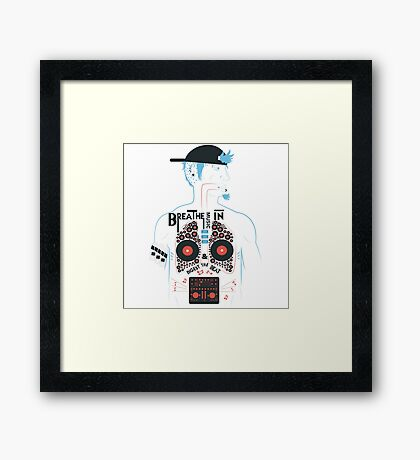 This is what your insides look like on music. Framed Print