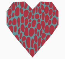 0003 Alizarin Crimson or Rose Madder Dots with Complementary Color Kids Clothes