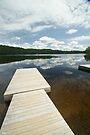 Legrou Lake Boat Dock by Allen Lucas