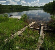 Legrou Lake Old Boat Launch by Allen Lucas