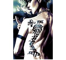The girl with the Yoshi tattoo Photographic Print