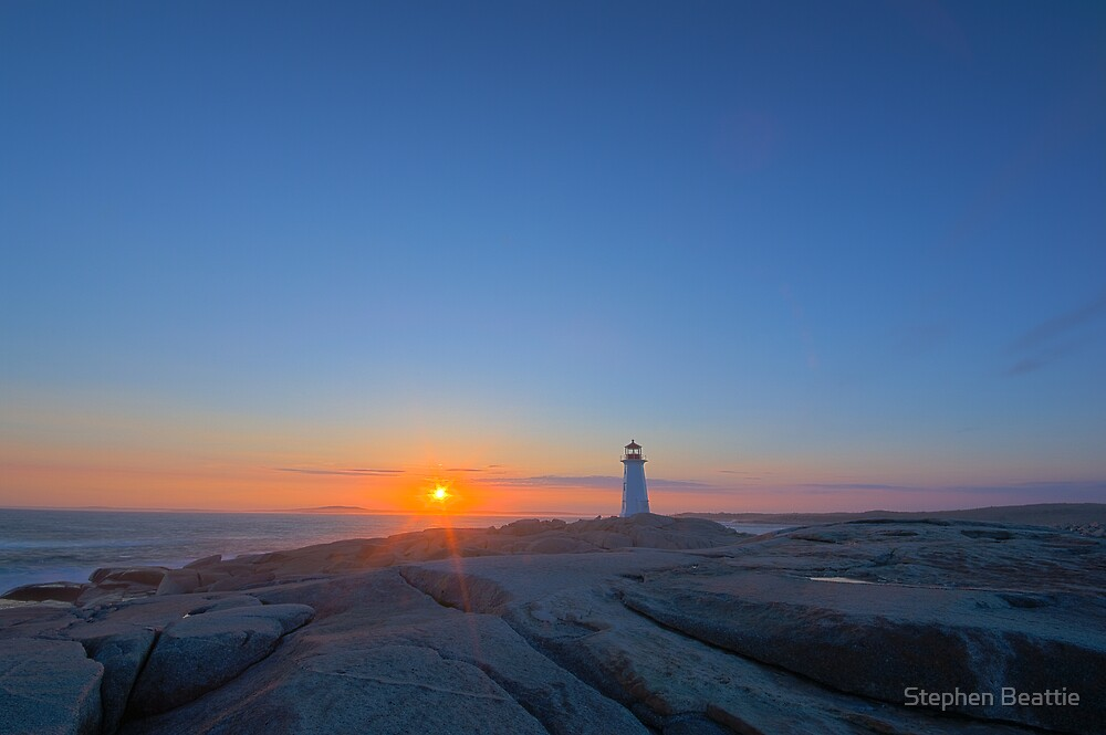 Peggy's Cove Light - Before Sunset by Stephen Beattie