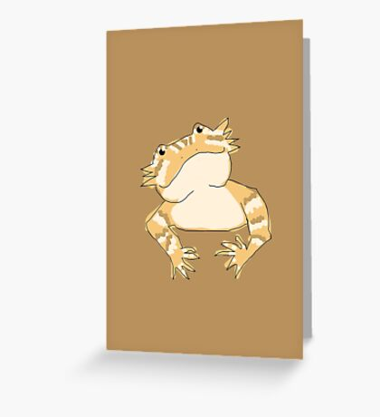 Bearded dragon cute head Greeting Card