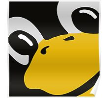 linux tux penguin eyes Poster