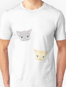 Cute Kitten Face Pattern Unisex T-Shirt
