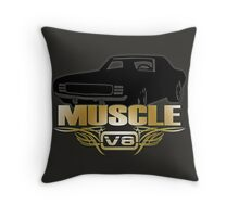Muscle Car V8 Throw Pillow