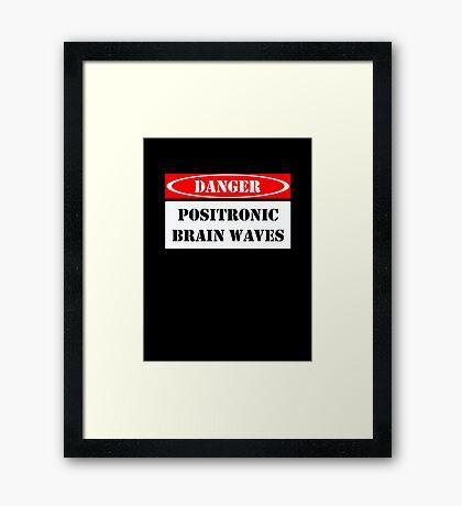 Positronic Brain Waves Framed Print