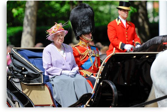 The Queen and Prince Philip: Trooping the Colours, London, Pall Mall, June 2010 by DonDavisUK