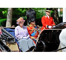 The Queen and Prince Philip: Trooping the Colours, London, Pall Mall, June 2010 Photographic Print