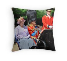 The Queen and Prince Philip: Trooping the Colours, London, Pall Mall, June 2010 Throw Pillow