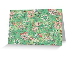 The Garden Party - mint tea version Greeting Card