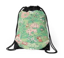 The Garden Party - mint tea version Drawstring Bag
