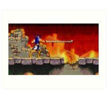 Castle Vania retro painted pixel art Art Print