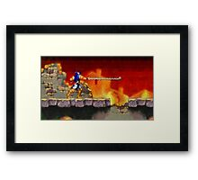 Castle Vania retro painted pixel art Framed Print
