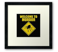 Welcome to Mordor Lord of the Rings Framed Print