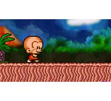 Bonk / BC Kid retro painted pixel art Photographic Print