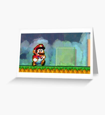 Super Mario retro painted pixel art Greeting Card