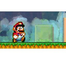 Super Mario retro painted pixel art Photographic Print