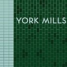 YORK MILLS Subway Station by Daniel McLaren