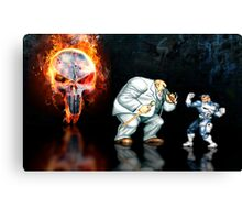 Punisher pixel art Canvas Print