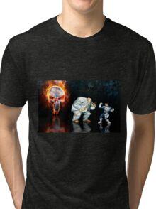 Punisher pixel art Tri-blend T-Shirt