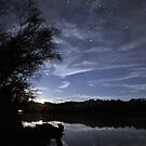 Murray River Moonrise by Wayne England