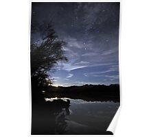 Murray River Moonrise Poster