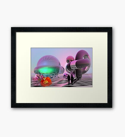 The Sci-fi roundtrip Framed Print