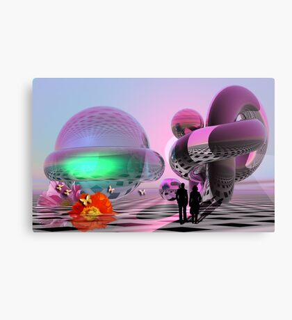 The Sci-fi roundtrip Canvas Print