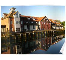 Reflections, Stoke Maltings, Ipswich Poster