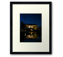 At Night,The Customs House, Ipswich Framed Print
