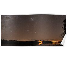 Camping Under the Stars Panorama Poster