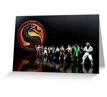 Mortal Kombat pixel art Greeting Card