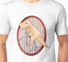 T-rex can ride a penny farthing Unisex T-Shirt