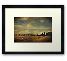 Runnin Down the Road Tryin To Loosen My Load Framed Print