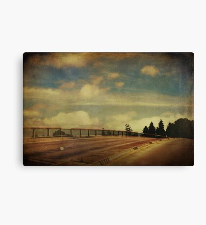 Runnin Down the Road Tryin To Loosen My Load Canvas Print