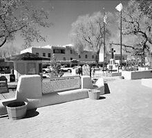 Taos Plaza by Gordon Lukesh