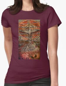 The hurting hidden moon Womens Fitted T-Shirt
