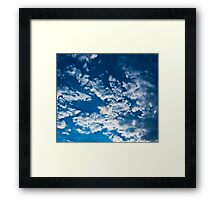 In the Clear Blue Sky. Framed Print