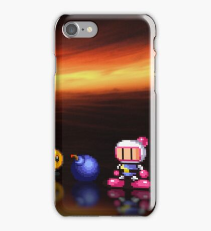 Bomberman - Panic Bomber B pixel art iPhone Case/Skin