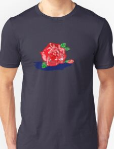 RED ROSE and Bud T SHIRT T-Shirt