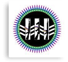 Jack White III Logo - Machine Gun Silhouette Edition Canvas Print