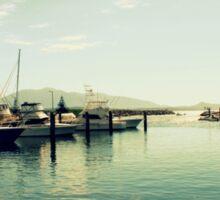 Boats At The  Marina Sticker
