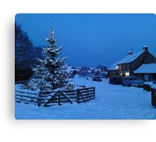Merry Christmas From Goathland Canvas Print