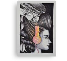 Beats headphones in history Canvas Print