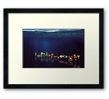 James Pond pixel art Framed Print